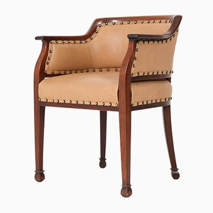 Art deco office chair Tan Sad Art Deco Mahogany Desk Chair By Kpc De Bazel For Pander Zonen 1920s Pamono Buy Art Deco Office Chairs At Pamono