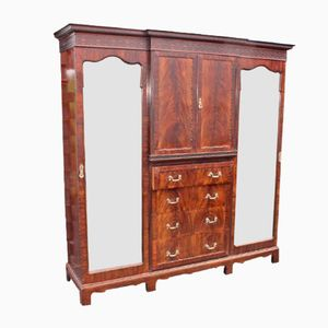 Armoire à 2 Portes en Acajou et Miroir de Maple and Co., 1900s
