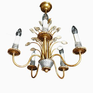 Vintage Italian Crystal Chandelier from Banci