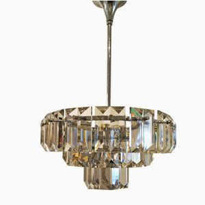 Crystal Chandelier with Three Tiers, 1970s