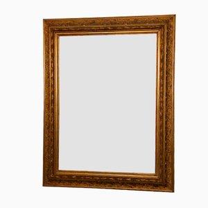 Großer facettierter Spiegel mit goldenem Rahmen, 19. Jh.