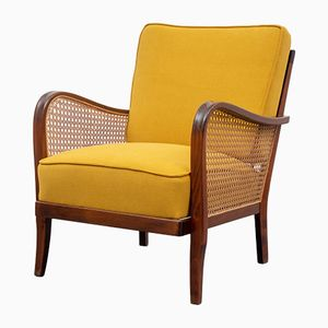 Mustard Yellow Lounge Chair, 1950s