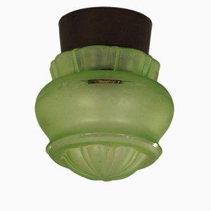 Lampada da soffitto verde di Niko, anni '30