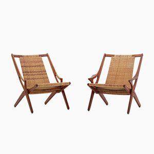 Danish Easy Chairs by Arne Hovmand-Olsen, 1960s, Set of 2