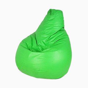 Puf Sacco vintage de plástico verde de Gatti, Paolini & Teodoro para Zanotta