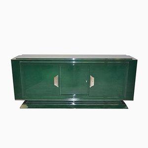 Art Deco Sideboard mit grünem Jaguarrennlack, 1920er