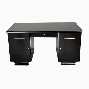 Art Deco French Black Desk, 1920s
