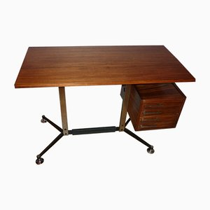 Rosewood Desk by Jules Wabbes for Velca, 1963