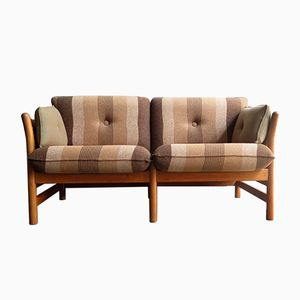 Vintage 2-Sitzer Eichenholz Sofa von Arne Norell