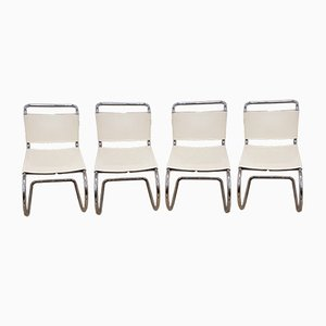 MR10 Chairs by Mies van Der Rohe for Knoll, 1984, Set of 4