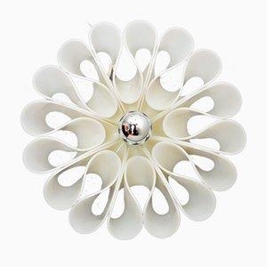 Lámpara de pared italiana vintage floral acrílica, años 70