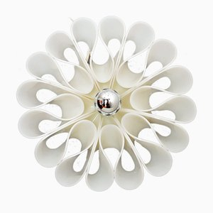 Vintage Italian Acrylic Floral Wall Lamp, 1970s