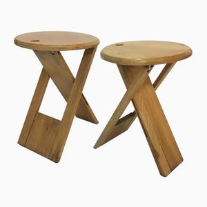 Vintage Stools by Roger Tallon for Sentou, 1970s, Set of 2