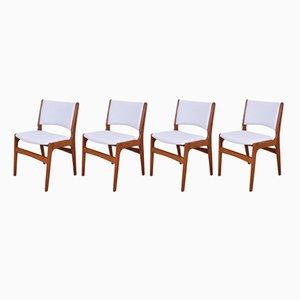 Modell 89 Stühle von Erik Buch für Andestrup Møbelfabrik, 1960er, 4er Set