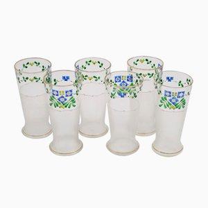 Bicchieri Art Nouveau, inizio XX secolo, set di 6