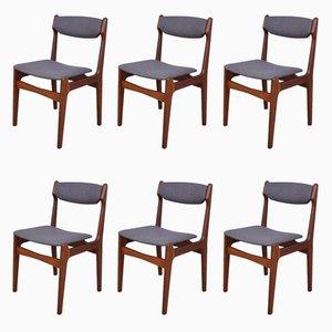 Chaises de Salon en Teck, Danemark, 1960s, Set de 6