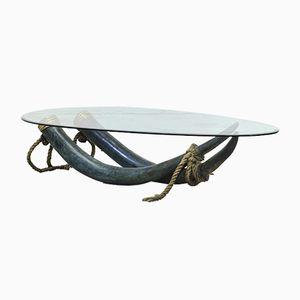 Bronze und Messing Stoßzahn Tisch von Italo Valenti, 1975
