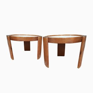 Marema Side Tables by Gianfranco Frattini for Cassina, 1969, Set of 2