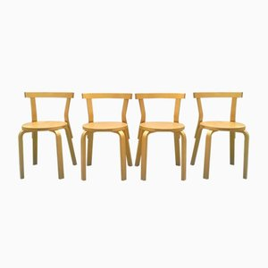 Vintage Dining Chairs by Alvar Aalto for Artek, 1970s, Set of 4