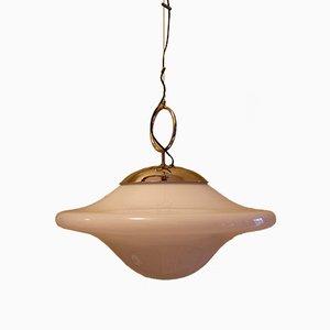 Lámpara de techo era espacial italiana soplada, años 60