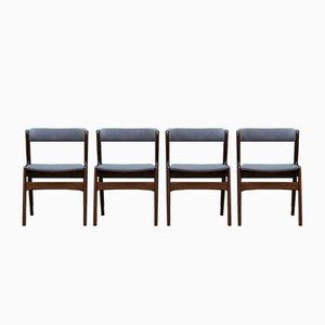 Chaise de Salon Vintage en Hêtre par Kai Kristiansen, Set de 4