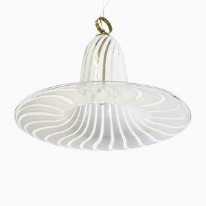 Lámpara de techo italiana de cristal de Murano, años 50