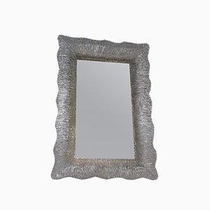 Espejo de cristal de Murano, años 50