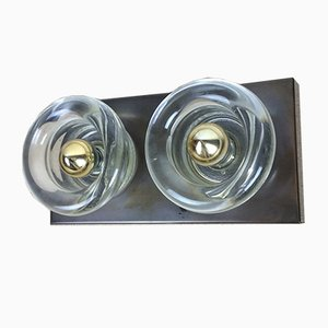 Modernist Copper & Glass Wall Sconce from Cosack, 1970s