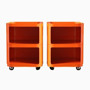 Componibili Trolleys by Anna Castelli Ferrieri for Kartell, 1970s, Set of 2