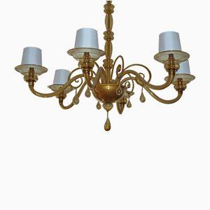Lámpara de araña de cristal de Murano, años 40