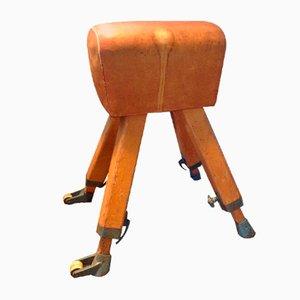 Caballo con arcos vintage de cuero marrón