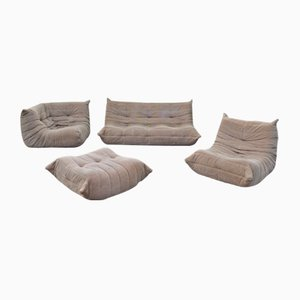 Togo Sofa Set by Michel Ducaroy for Ligne Roset, 1970, Set of 4