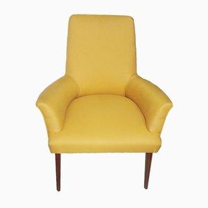 Mid-Century Dark Yellow Italian Armchair, 1950s