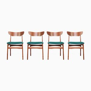 Vintage Danish Chairs in Teak from Schiønning & Elgaard, Set of 4