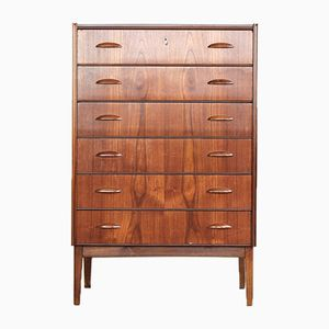 Danish Chest of 6 Drawers in Teak, 1960s