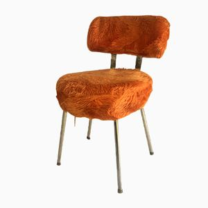 Vintage Chair in Faux Fur, 1970s