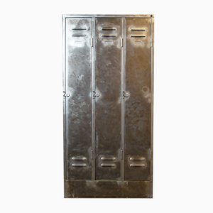 Vintage Industrial 3-Unit Steel Locker