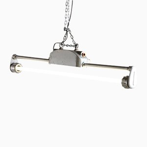 Lampada da soffitto tubolare vintage industriale, anni '70