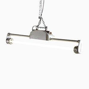 Lámpara de techo industrial vintage tubular, años 70