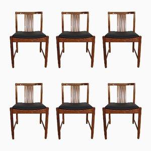 Chaises de Salon en Palissandre Massif, 1960s, Set de 6