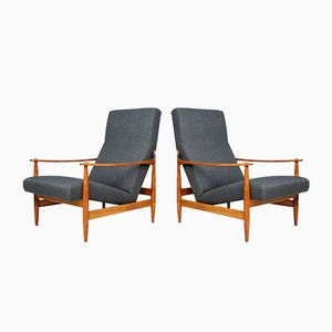 Mid-Century Danish Armchairs, Set of 2