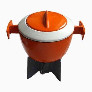 Juego de fondue de hierro fundido de Safa, años 70