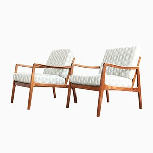 Easy Chairs in Teak by Ole Wanscher for France & Søn, 1960s, Set of 2