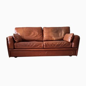 Cognac Leather Miami Sofa from Baxter, 1993