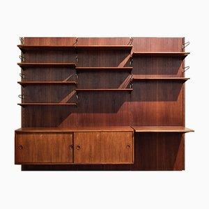 Mueble modular de pared vintage de teca y latón de Finn Juhl para Bovirke