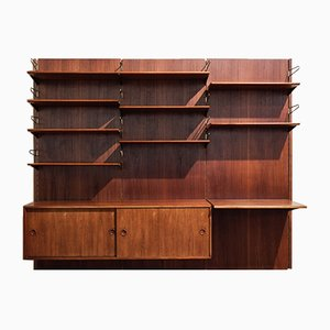 Vintage Wall System in Teak and Brass by Finn Juhl for Bovirke