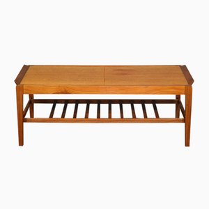 Extendable Slatted Teak Coffee Table from Remploy, 1960s