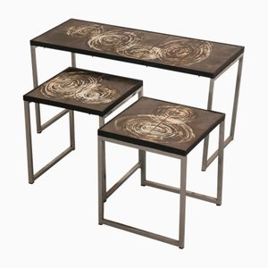 Tables d'Appoint Vintage par Juliette Belarti, Set de 3