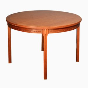 Mid-Century Swedish Teak Round Table by Nils Jonsson.
