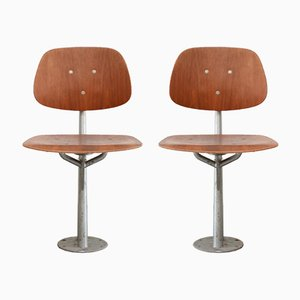 Mid-Century Danish Folding Teak Chairs, Set of 2
